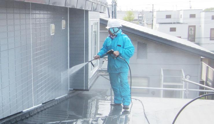 高圧洗浄で塗装面をきれいに