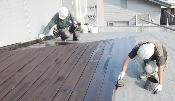 屋根の錆止め