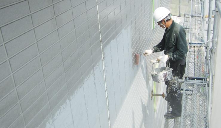 外壁下塗でシーラ塗装