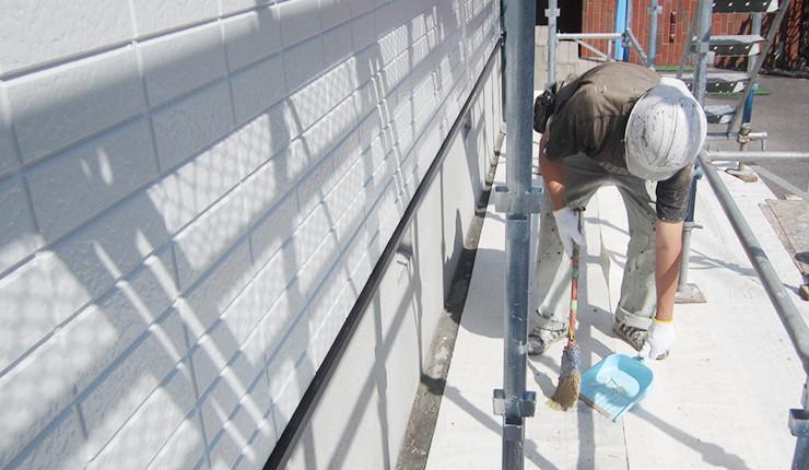 塗装現場の清掃